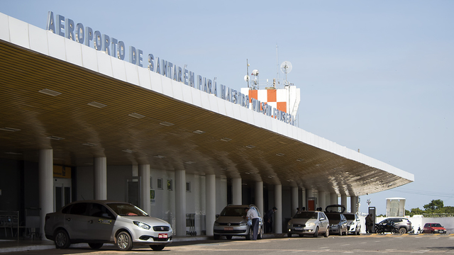 A view from Santarem Maestro Wilson Fonseca Airport