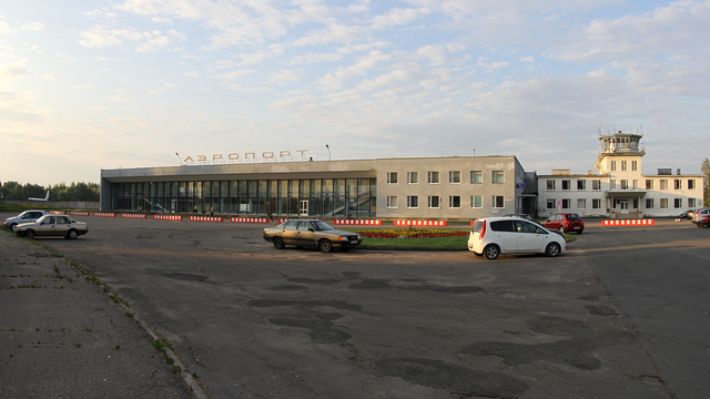 A view from Pskov Airport