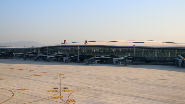 A view from Ningbo Lishe International Airport