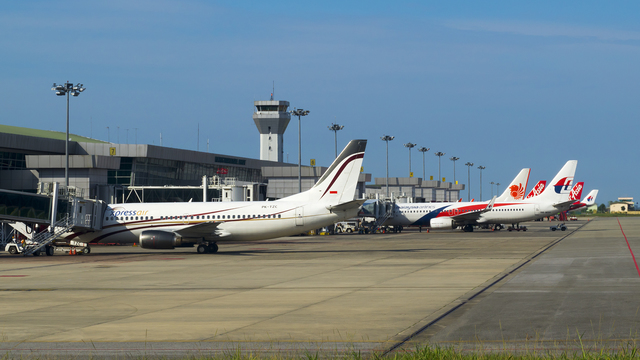 A view from Kuching International Airport