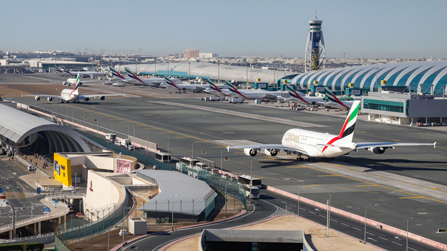 A view from Dubai International Airport