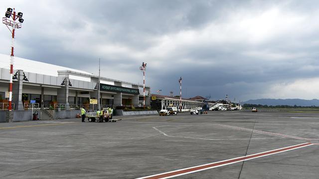 A view from Yogyakarta Adisucipto International Airport