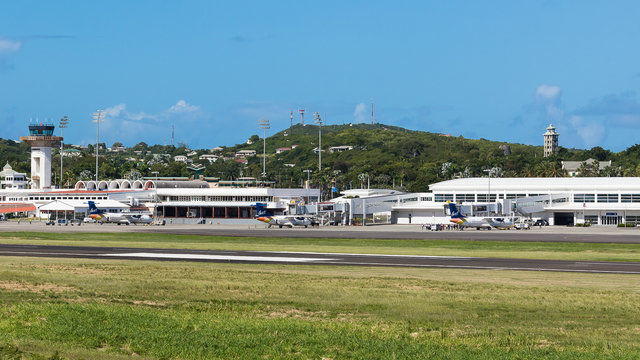A view from Antigua V. C. Bird International Airport