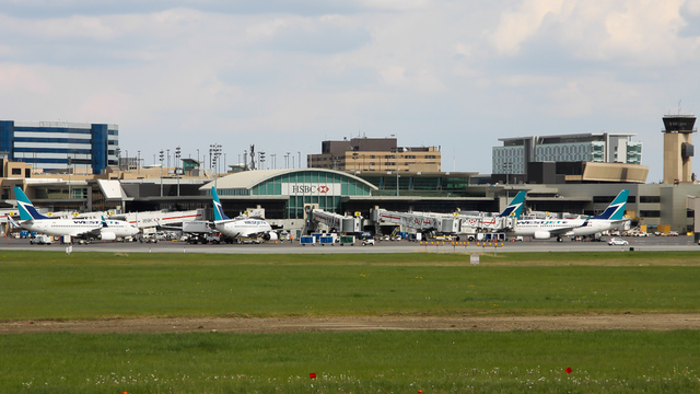 A view from Calgary International Airport