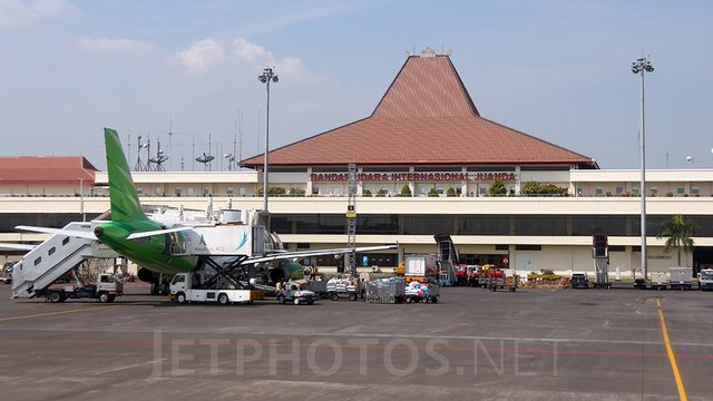 A view from Surabaya Juanda International Airport
