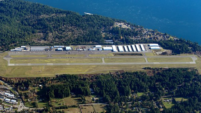 A view from Tacoma Narrows Airport