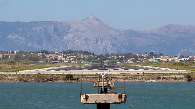 A view from Corfu International Airport