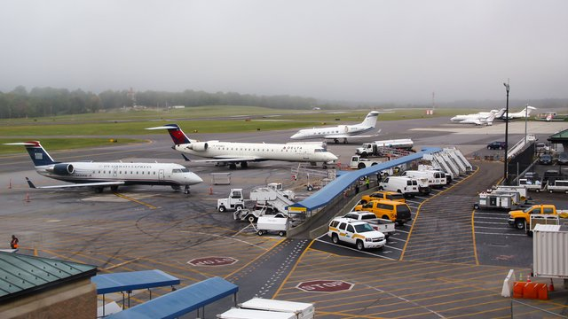 A view from White Plains Westchester County Airport