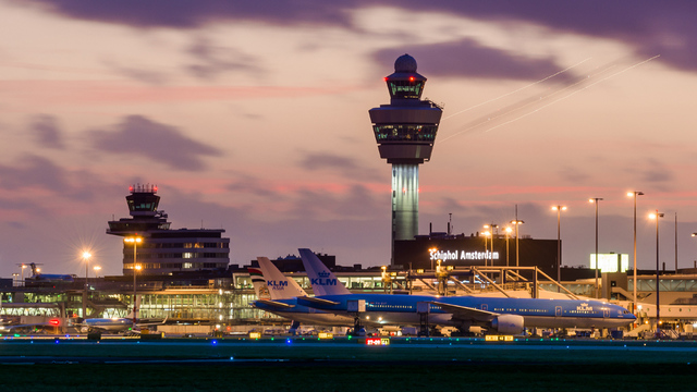 A view from Amsterdam Schiphol Airport
