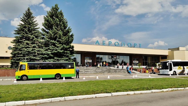 A view from Vinnytsia Havryshivka International Airport