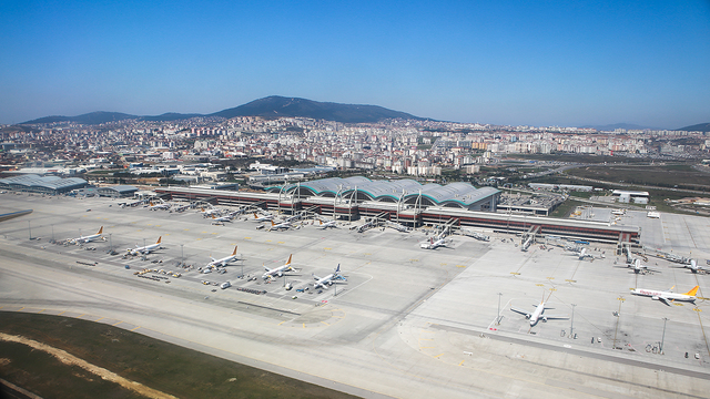 A view from Istanbul Sabiha Gokcen International Airport