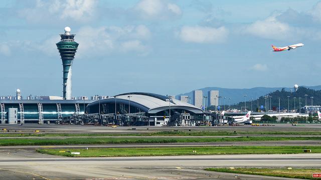 A view from Guangzhou Baiyun International Airport