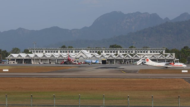 A view from Langkawi International Airport