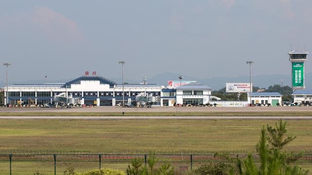 A view from Ganzhou Huangjin Airport