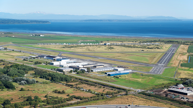 A view from Vancouver Boundary Bay Airport
