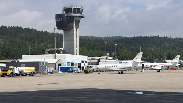 A view from Kristiansand Kjevik Airport