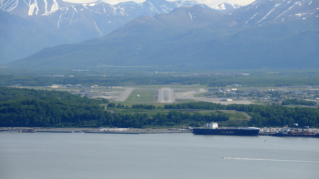 A view from Anchorage Elmendorf Air Force Base