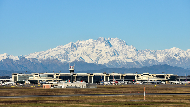 A view from Milan Malpensa Airport