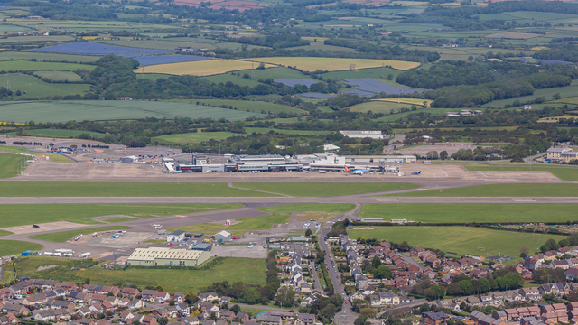 A view from Cardiff Airport