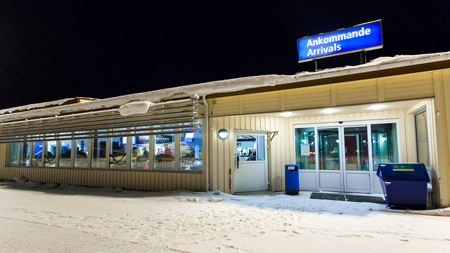 A view from Ornskoldsvik Airport