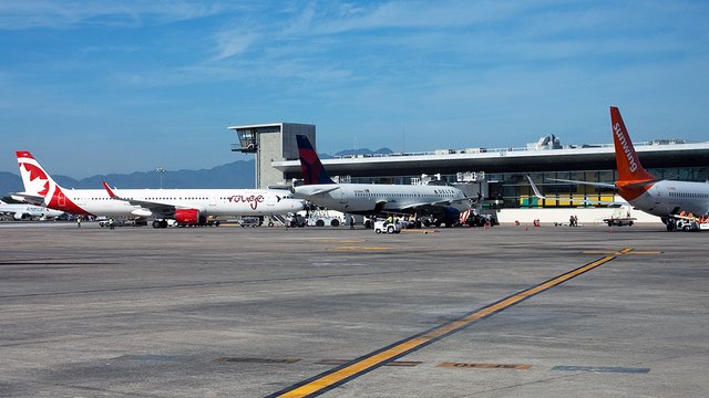 A view from Puerto Vallarta International Airport
