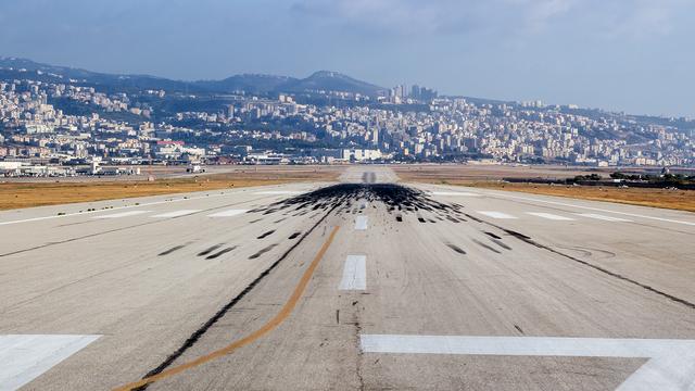 A view from Beirut Rafic Hariri International Airport