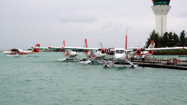 A view from Male Velana International Airport