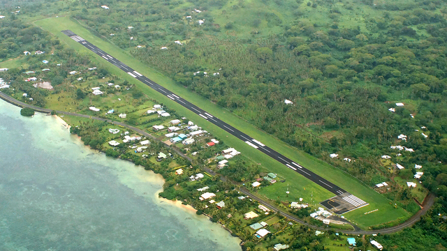A view from Matei Taveuni Airport