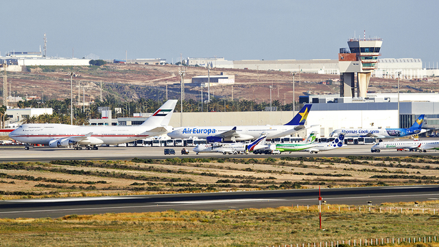 A view from Gran Canaria Airport