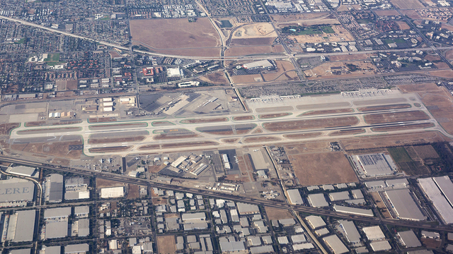 A view from Ontario International Airport