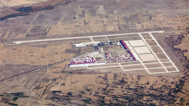 A view from Isparta Suleyman Demirel Airport