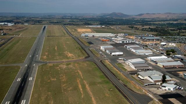 A view from Johannesburg Lanseria International Airport