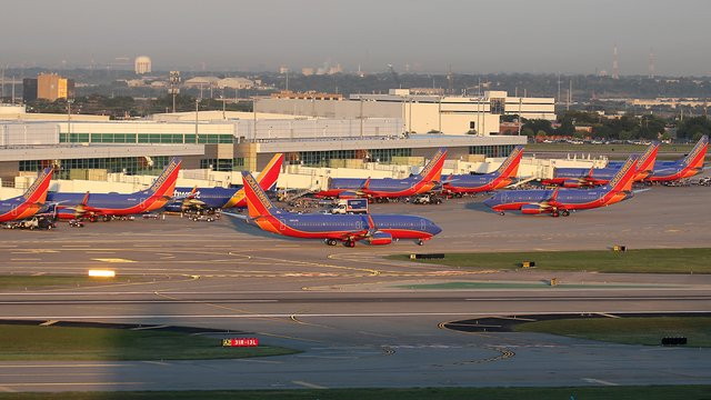 A view from Dallas Love Field Airport