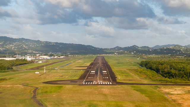 A view from Martinique Aime Cesaire International Airport