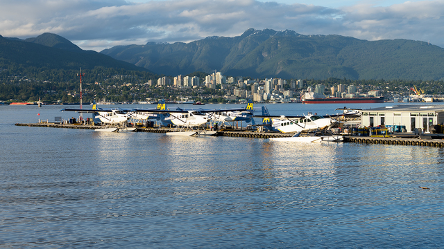 A view from Vancouver Harbour Water Airport