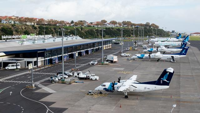 A view from Ponta Delgada Joao Paulo II Airport