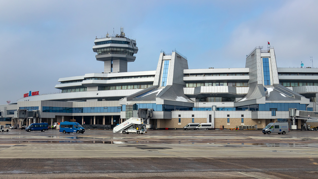 A view from Minsk International Airport