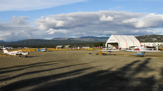 A view from Whitehorse International Airport