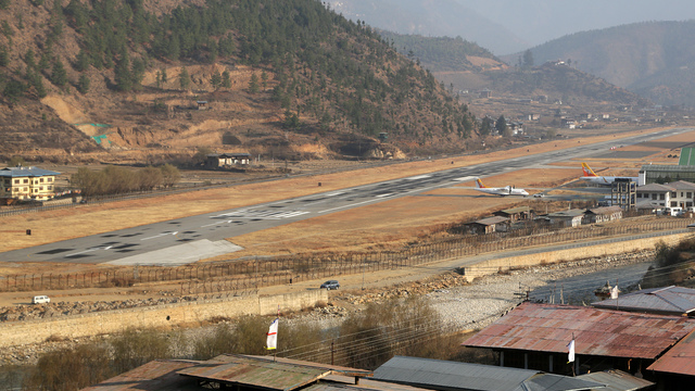 A view from Paro Airport