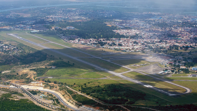 A view from Mombasa Moi International Airport