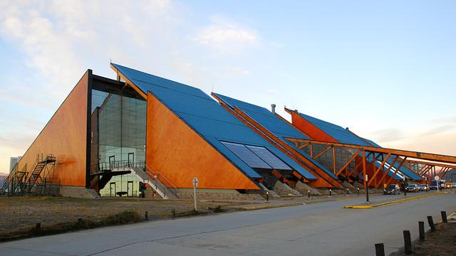 A view from Ushuaia Malvinas Argentinas International Airport