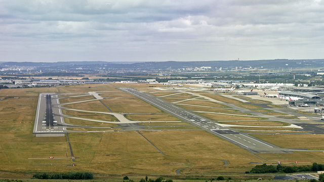 A view from Paris Charles de Gaulle Airport