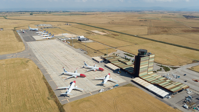 A view from Lleida Alguaire Airport