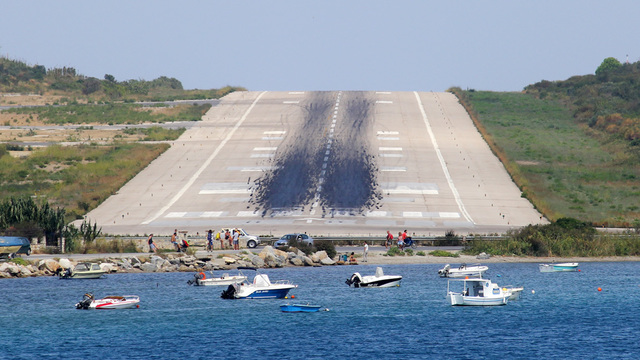 A view from Skiathos Island National Airport