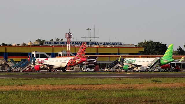 A view from Jakarta Halim Perdanakusuma Airport