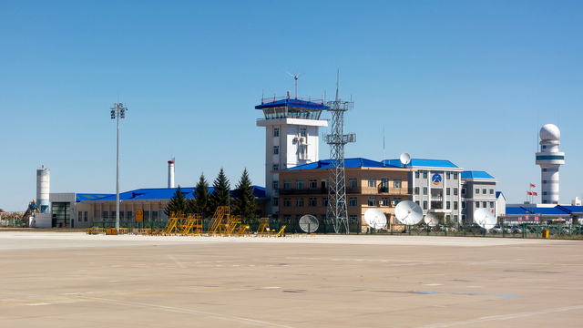 A view from Heihe Airport