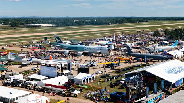 A view from Oshkosh Wittman Regional Airport