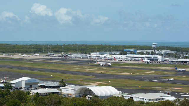 A view from Darwin International Airport