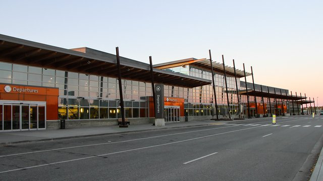 A view from Fairbanks International Airport