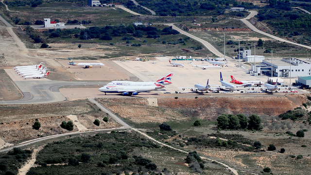 A view from Castellon Costa Azahar Airport